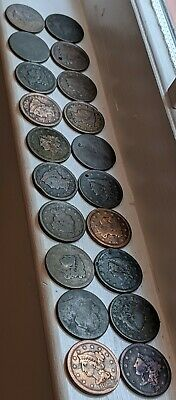 (20) 1802-1850's Large Cent AG VF Coins