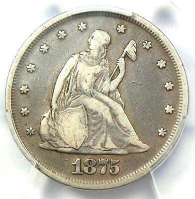1875-P Twenty Cent Coin 20C - Certified PCGS VF20 - Rare Date 1875 Coin!