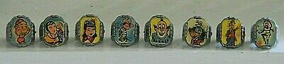 Complete Set of 8 1950's Howdy Doody Nabisco Flicker Flasher Ring Set