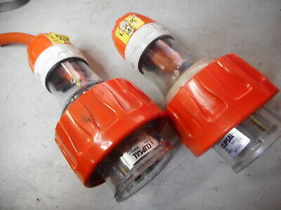 CLIPSAL 3 Phase Plugs -- Qty of 2 -- 20amps 500V 5 Pin with Neutral -- 56P520