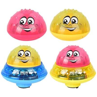 Kids Toddlers Electric Induction Sprinkler Water Spray Toy Light Baby Bath Toys