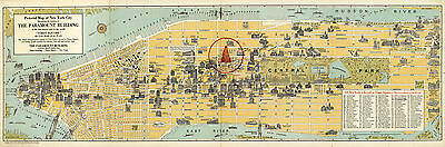 1936 Pictorial Map New York Wall Art Poster Print Decor Vintage History
