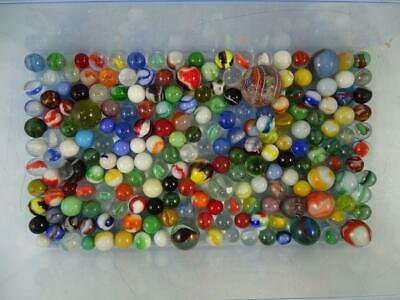 Antique Vintage Glass Marble Collection Assortment German Machine Hand Made LOTB