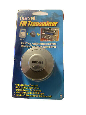 Maxell Stereo FM Transmitter Compatable With All Portable Music Players