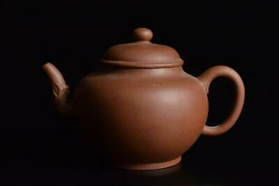 Z937: Chinese Brown pottery Shapely TEAPOT Kyusu Sencha, auto Tea Ceremony