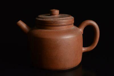 Z935: Chinese Brown pottery Shapely TEAPOT Kyusu Sencha, auto Tea Ceremony