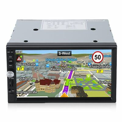 Autoradio Navigation MIT Doppel 2DIN GPS Navi Bluetooth USB MP3 DVD CD TF aF