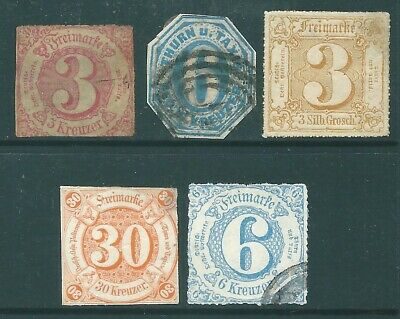 THURN & TAXIS early used stamp and postmark collection