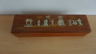 Chinese decorated wooden box