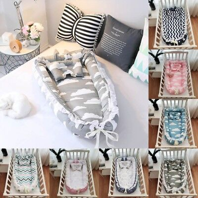 Baby Pod Nest Newborn Reversible Cocoon Bed Sleep Newborn Cushion Portable Bed L