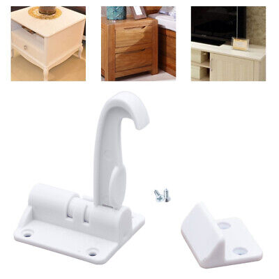 Cupboard Lock Child Baby Kids Safety Proof Drawer Lock Spring For Cabinets White