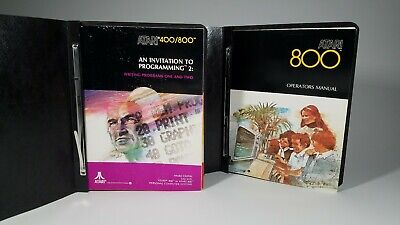 Atari 400/800 Operator, Program, Statistics & Graph Manuals In Vintage Binders