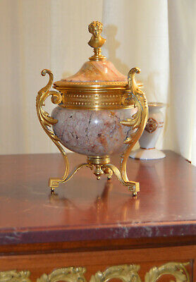 French Louis XVI style Ormolu and Marble Urn
