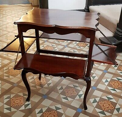 Edwardian Mahogany What Not, Tea Table, with drop down side tables. circa 1910