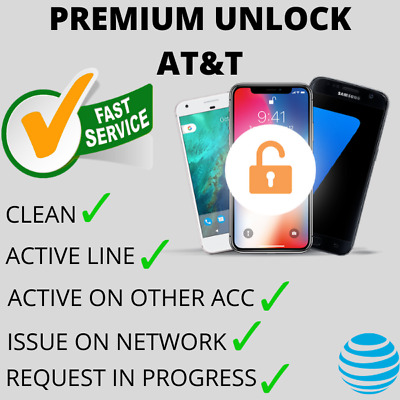 PREMIUM AT&T ATT FACTORY UNLOCK SERVICE FOR IPHONE 11 Xs Xr X 8 7 6s 6 SE Active