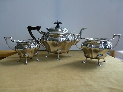 Antique Solid silver tea set, 1300 grams, Walker&Hall,Sheffield 1936
