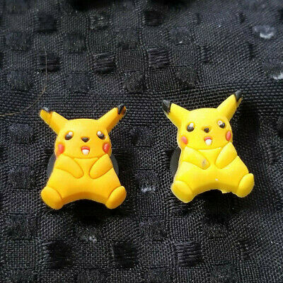 2  X  PIKACHU (one yellow and one gold) SHOE CHARM PVC RUBBER
