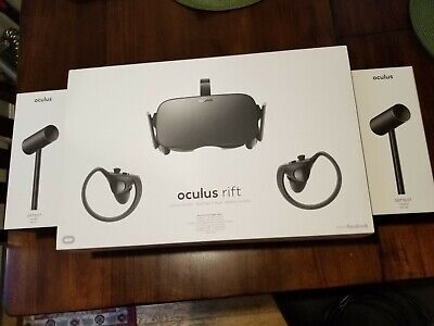 Oculus Rift CV1 VR Headset with Controllers and 4 Sensors