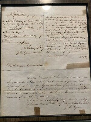 1848 Skaneateles NY Marriage & Disownment Letters