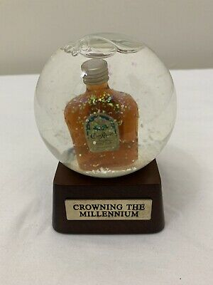 Vintage Crowning The Millennium Snow Globe Crown Royal Whiskey 2000 New In Box
