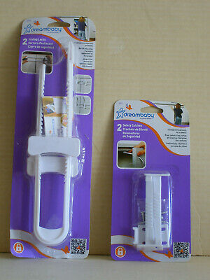 Cabinet Safety Door 2 Locks 2 Catches Toddler Child Latches Earthquake