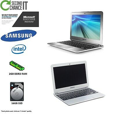 "Samsung Chromebook 11.6"" XE303C12 1.7GHz 2GB RAM 16GB SSD Chrome OS - C Grade"