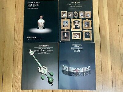 Lot Of 4 Sotheby's Auction Catalogues From The 90s, Snuff Bottles, Jewelry Etc