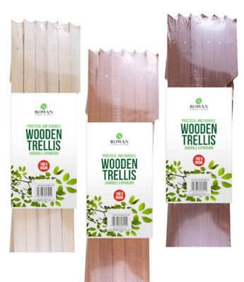 EXPANDING WOODEN GARDEN TRELLIS WALL FENCE PANEL PLANT CLIMB SUPPORT 5FT x 2FT