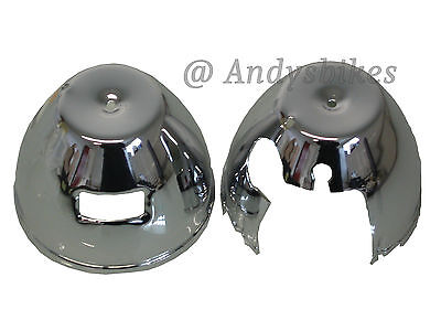Kawasaki Z650 Z750 Z900 Z1 Z1000 Chrome Pair Speedo & Tacho Clock Covers Bowls