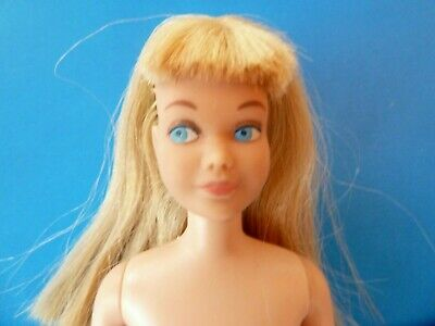 Vintage Nude Blonde Skipper Straight Legs Pink Lips Doll From 1960'S