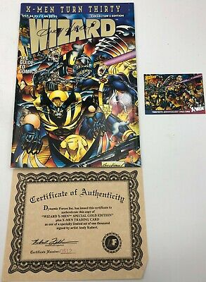 1993 Wizard X-Men Turn Thirty Marvel Comic Book Guide Autographed Andy Kubert