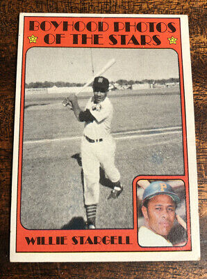1972 Topps #343 Willie Stargell Boyhood photo Pirates baseball Card MLB HOF