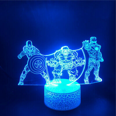 Bruce Lee Kongfu 3D Acrylic LED 7 Colour Night Light Touch Table Desk Lamp Gift