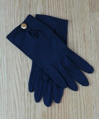 New  Portolano Unlined Navy Cotton Driving Gloves Italy Size L NWOT