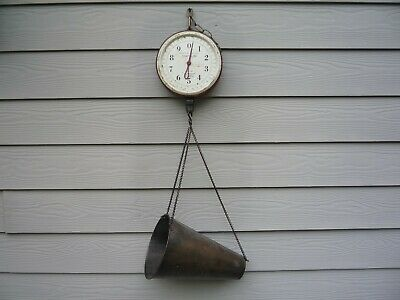 CHATILLON - Vintage/Antique Type 720 hanging scale 20lb capacity
