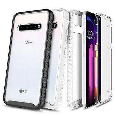 For LG K51 Case Ultra Thin Clear Phone Cover With Built-In Screen Protector