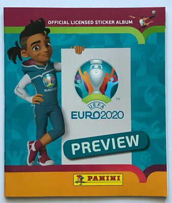 PANINI EURO 2020 Preview - 2 x Leeralbum / Empty Album Swiss Edition -