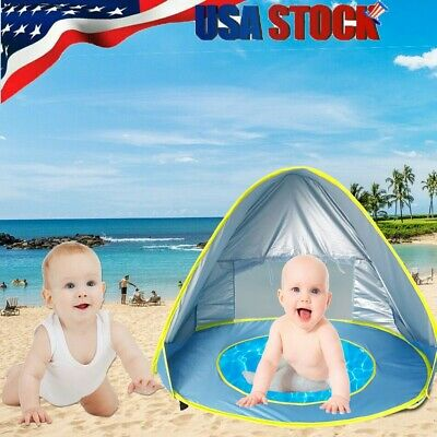 Cute Baby Beach Tent Up Portable Shade Pool Protection Sun Shelter For Infant