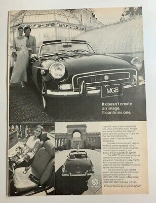 1972 MG MGB It Doesn't Create An Image It Confirms One Original Print Ad