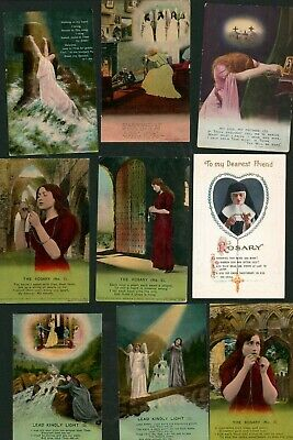 Bamforth Song Cards Angels Religious Lady Christianity Mixed Odds Bundle AJ.1445