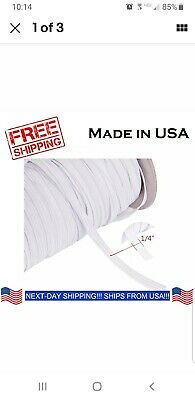 """10yds 6mm 1/4"""" White Elastic Cord Spandex Band Sewing Trim Braided DIY Face Mask"""