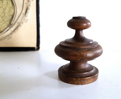 Antique wood post finial end cap French furniture part Architecture salvage 2.56