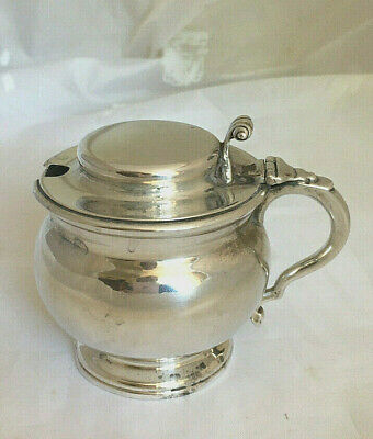 Antique Harrods Sterling Silver Mustard Pot 1912