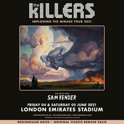 Killers Souvenir Fridge Magnet Imploding The Mirage Tour 2021 June Emirates Stad