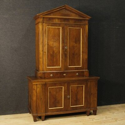 Cupboard furniture double body wood antique style Italian cabinet 6 doors 900