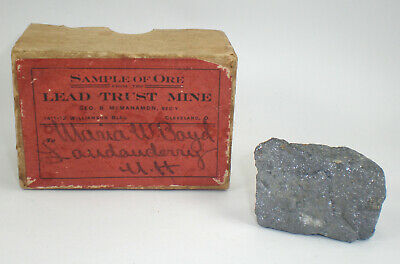 Vintage Ore Sample from Lead Trust Mine with Box