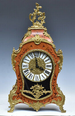 Hermle Marquetry Mantel Clock - Germany  Rich Ornamented - Mint