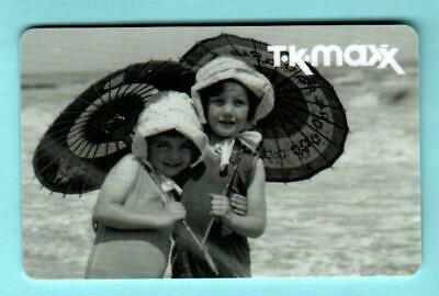 T.K. MAXX ( UK ) Young Girls at the Beach 2012 Gift Card ( $0 )