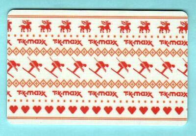 T.K. MAXX ( UK ) Holiday Knitted Design 2012 Gift Card ( $0 )