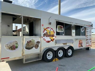 Very Spacious 2018 - 8' x 24' Mobile Kitchen Food Concession Trailer with Porch